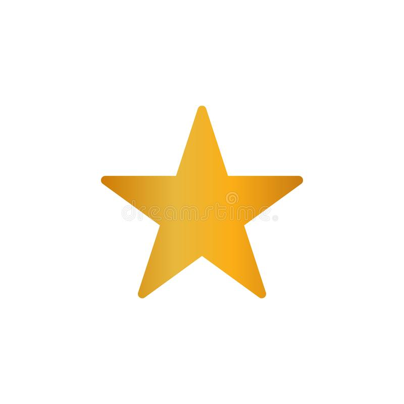 Vector eps10 del icono de la estrella del oro Muestra de la pendiente del metal de la estrella del oro libre illustration