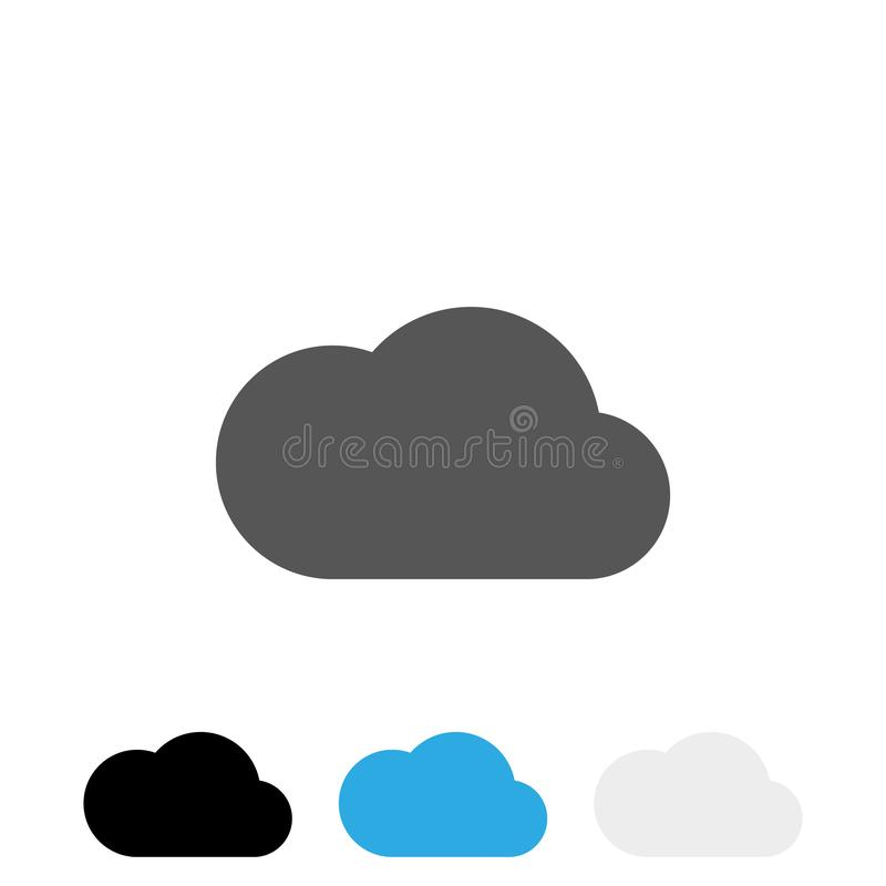 Vector eps10 del icono de la nube de la carga por teletratamiento Muestra de Grey Cloud stock de ilustración