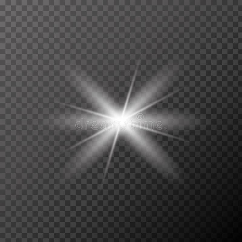 Vector eps10 del resplandor Ligero de destello, vector eps10 de los rayos del sol efecto del haz Blick de los rayos de Sun stock de ilustración