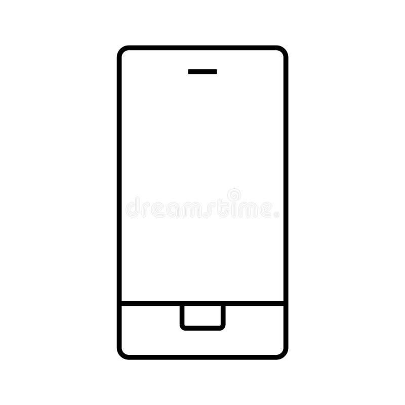 Vector eps10 del smartphone del esquema Muestra del vector del icono del contacto telefónico de la llamada de Smartphone libre illustration