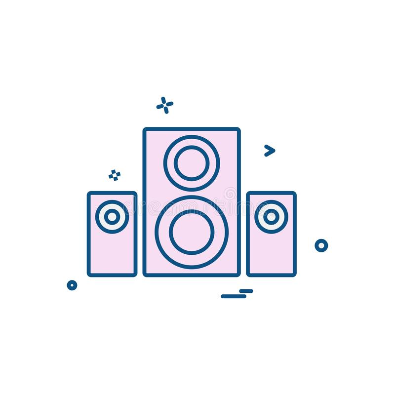 Music Speaker icon stock illustration