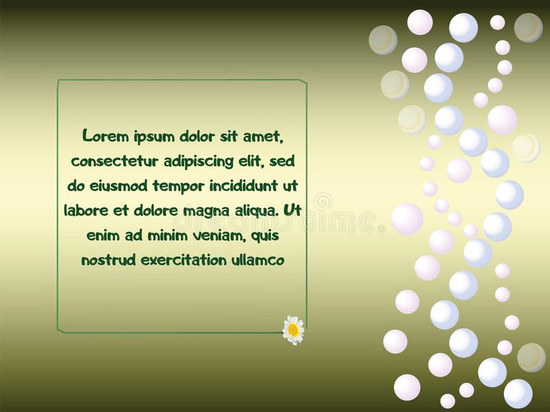 Green pearl background vector illustration