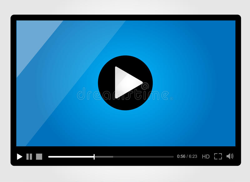 Download Video Player For Web, Minimalistic Design Stock Vector - Image: 30132414