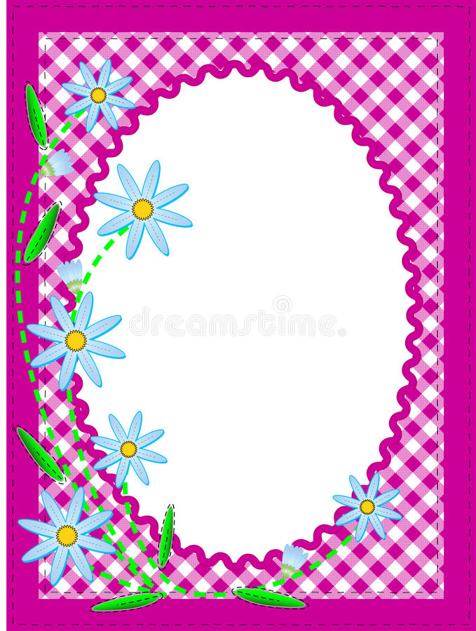 Download Vector Eps10 White Oval Copy Space With Flowers An Stock Vector - Illustration: 14076801