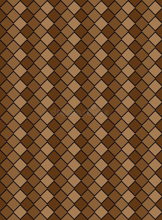 Download Vector Eps8, Brown Variegated Diamond Pattern Stock Vector - Illustration: 14344020