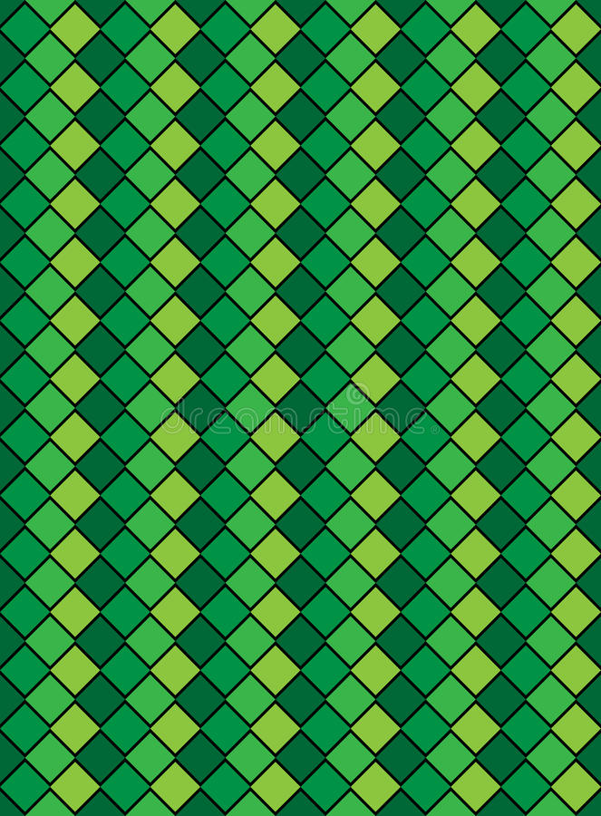 Download Vector Eps8, Green Variegated Diamond Pattern Stock Vector - Image: 14344009