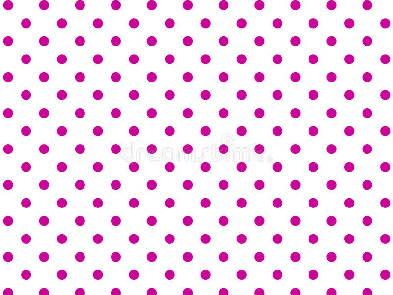 Vector Eps8 White Background with Pink Polka Dots.  vector illustration