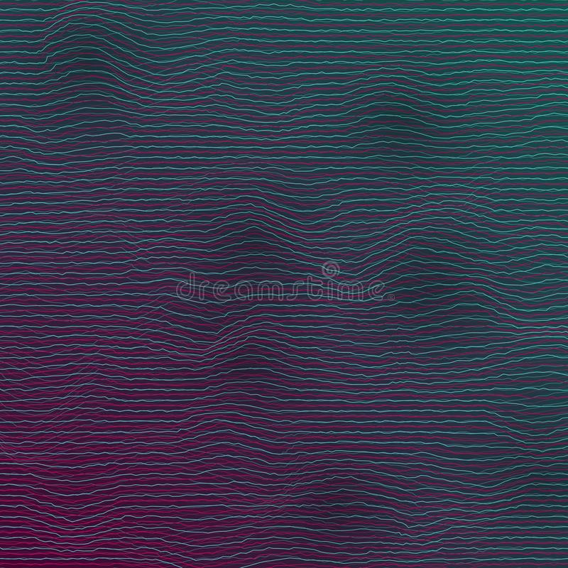 Vector Equalizer Frequency Glitch Effect royalty free illustration