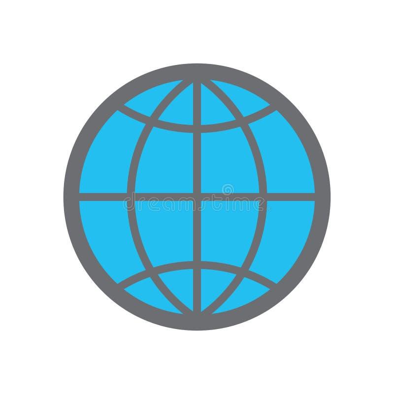 Vector es10 del icono de la web Muestra de la web del globo para la página web vector del icono de WWW ilustración del vector