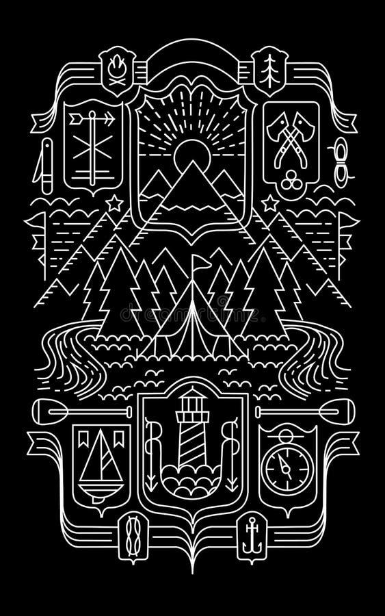 Vector Escudos de armas de la heráldica de las ciudades stock de ilustración
