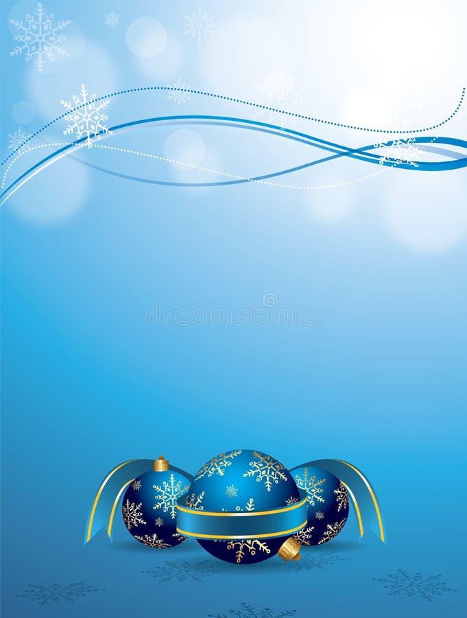 Vector esferas do Natal ilustração do vetor