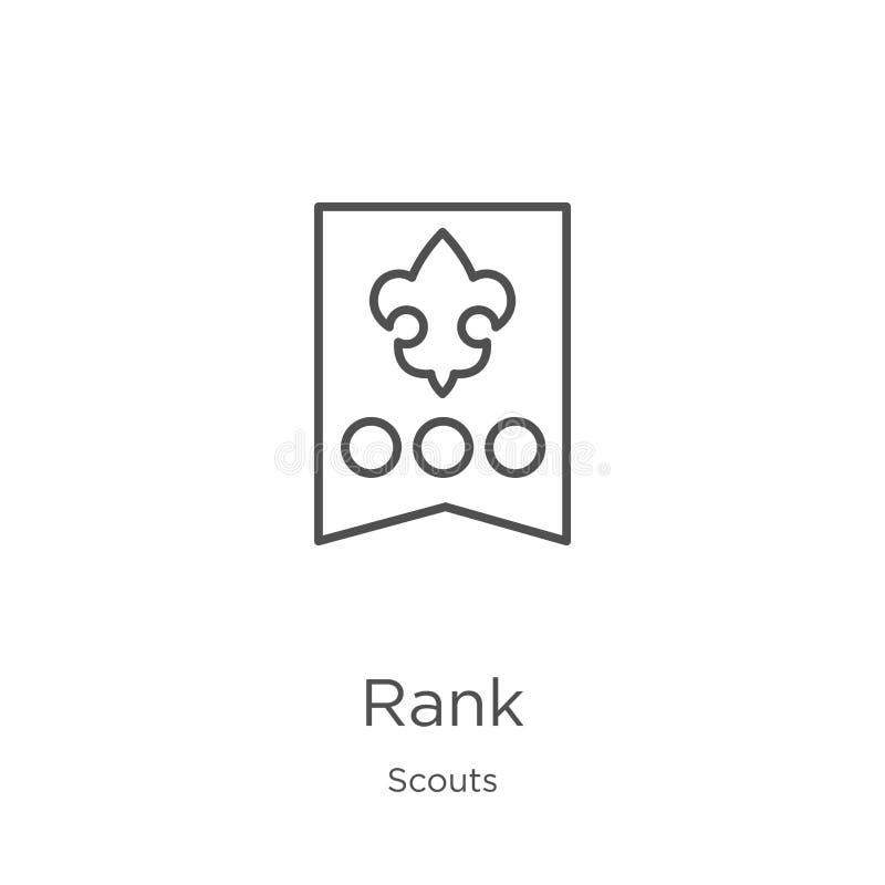 vector espeso del icono de la colección de los exploradores Línea fina ejemplo espeso del vector del icono del esquema Esquema, l libre illustration