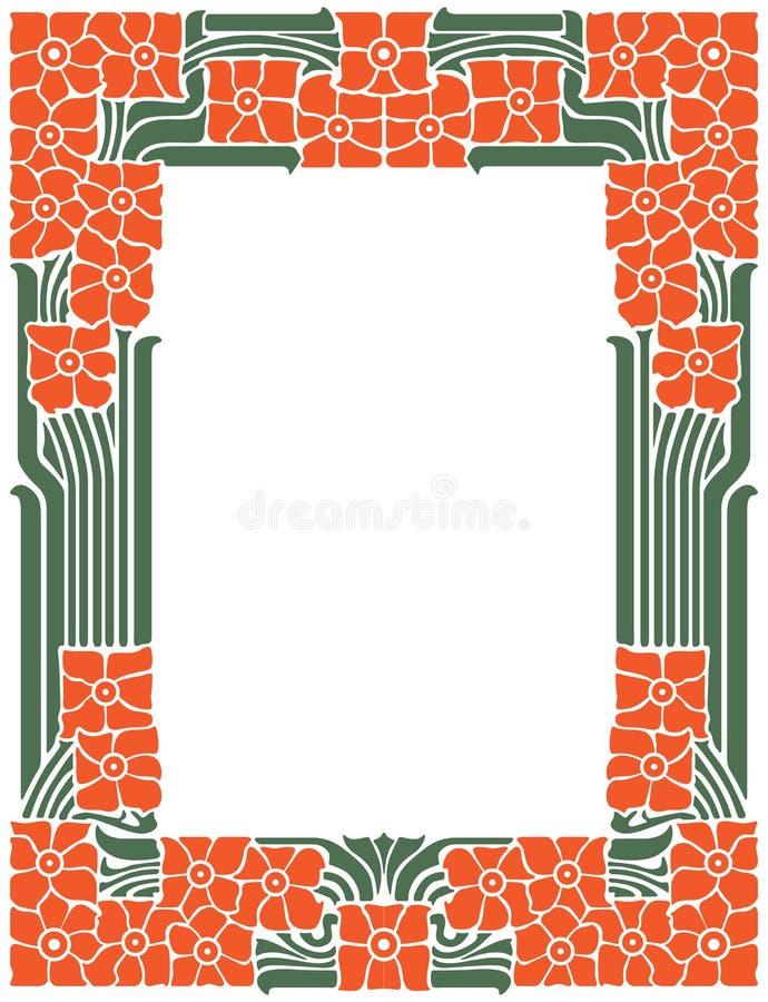 Vector a estrutura abstrata das linhas e das flores encadernadas para a decoração e projete-a ilustração royalty free