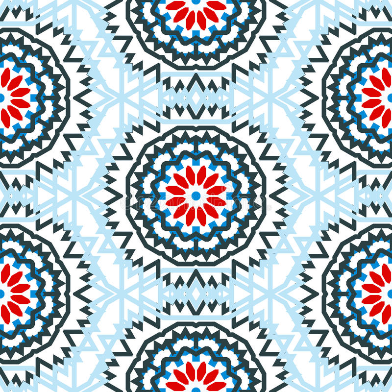 Vector ethnic colorful bohemian pattern royalty free illustration