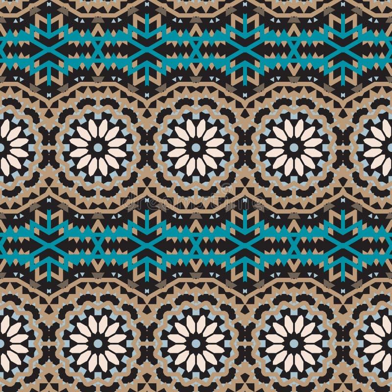 Vector ethnic colorful bohemian pattern stock illustration