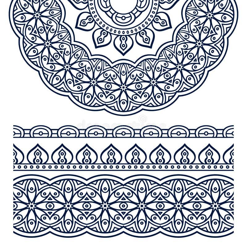 Vector ethnic mandala stock illustration