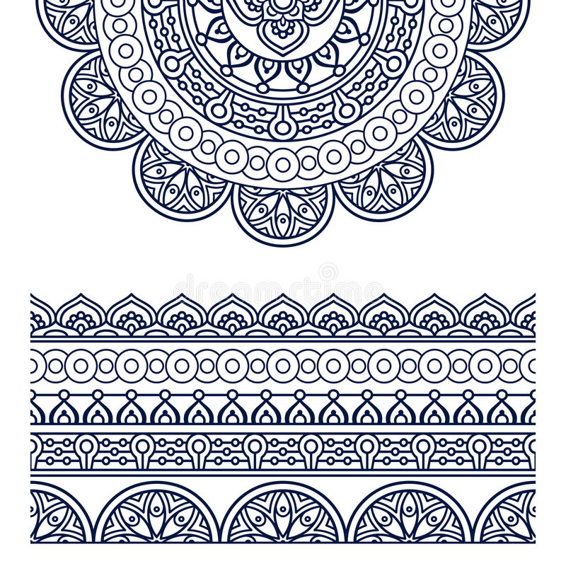 Vector ethnic mandala vector illustration