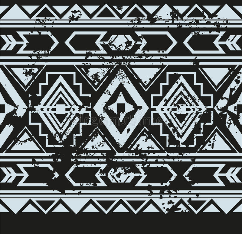 Vector ethnic seamless pattern with american stock photo