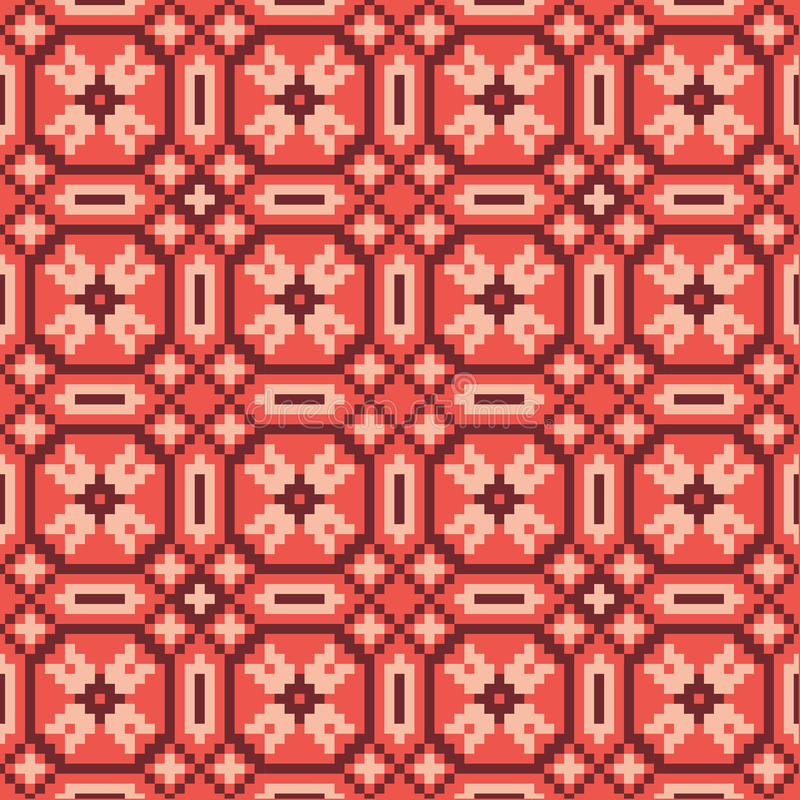 Vector ethnical seamless pattern stock illustration