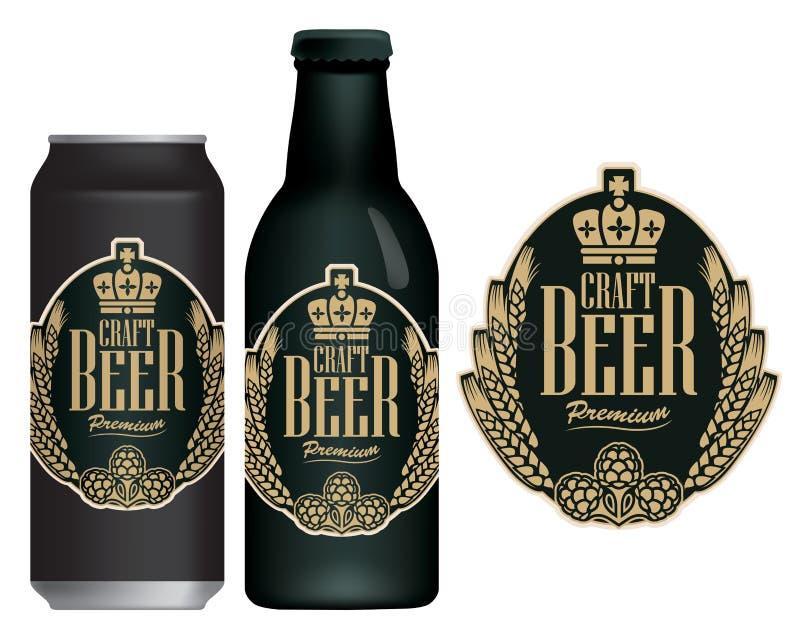 Vector a etiqueta para a cerveja do of?cio no estilo retro ilustração royalty free
