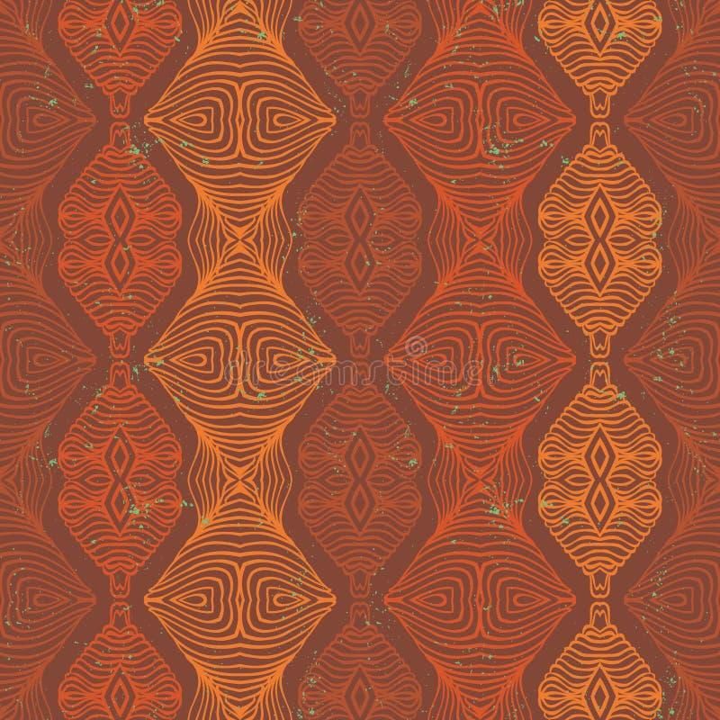 Vector etnisch naadloos patroon vector illustratie