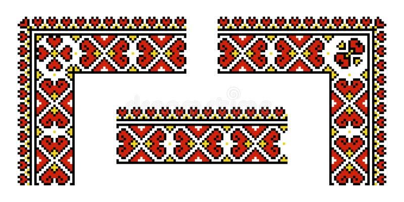 Vector etnisch Oekraïens patroon stock illustratie