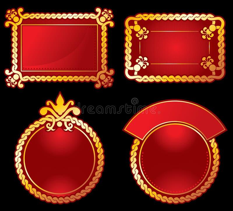 vector etykietki ozdobny bogactwo vector royalty ilustracja