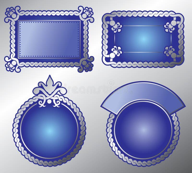 vector etykietki ozdobny bogactwo vector ilustracja wektor