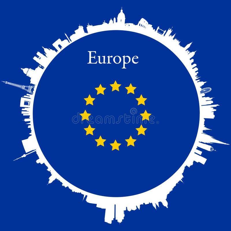 Vector Europe Circular background royalty free illustration