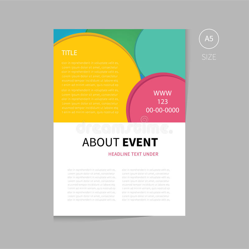 Vector Event Brochure Template Design Stock Vector  Illustration Of