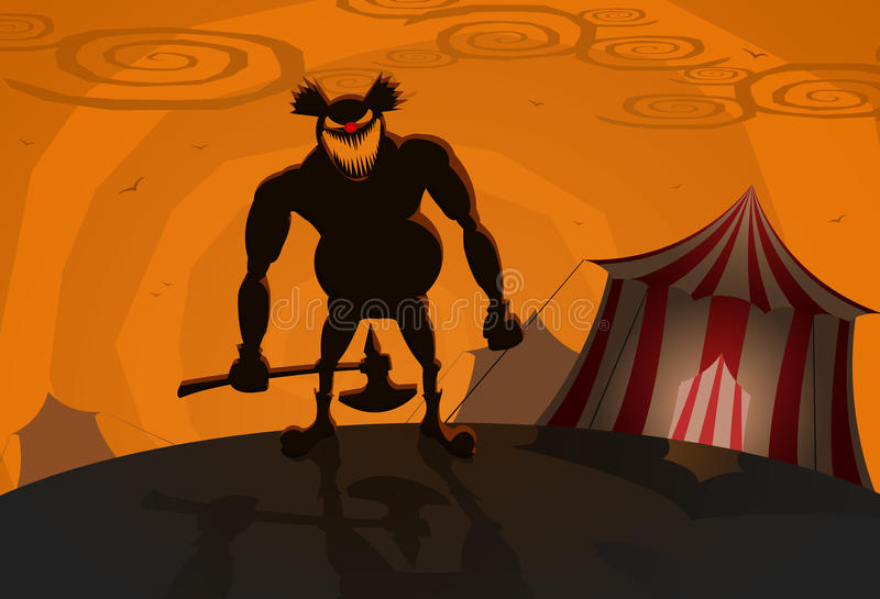 Download Vector Evil Clown With Circus On Background Stock Vector - Image: 10618417