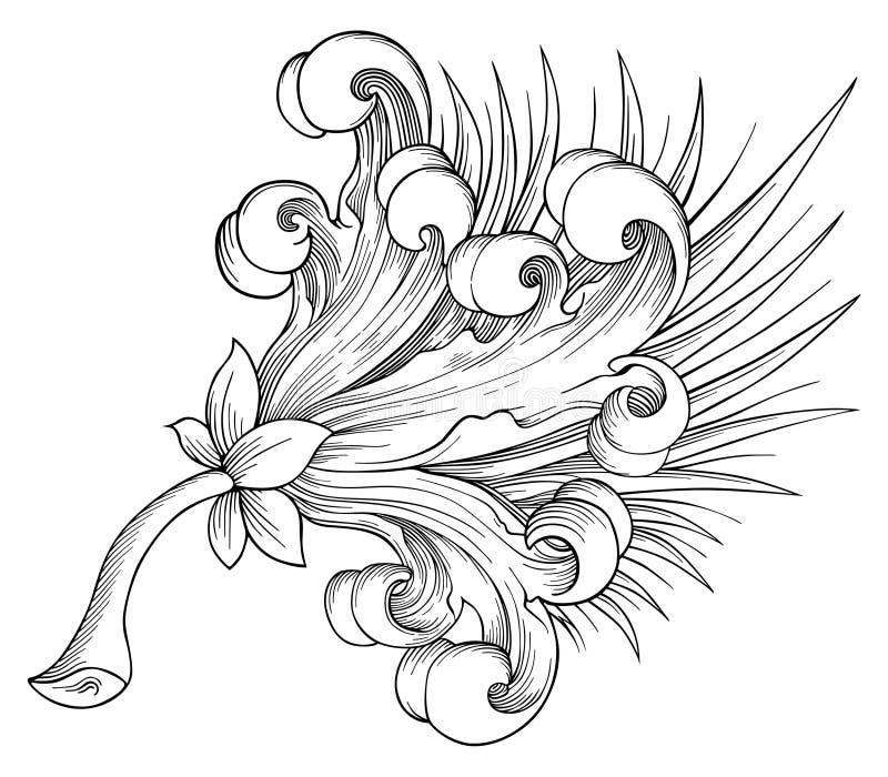 Vector exótico de la flor ilustración del vector