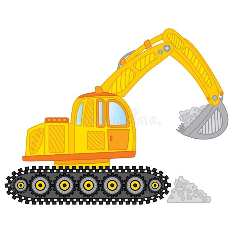 Vector Excavator. Excavator Vector Illustration. Vector excavator. Vector construction equipment. Construction transport. Excavator vector illustration vector illustration