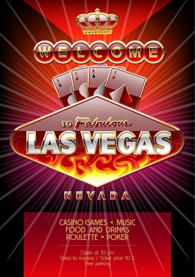 vector exclusive flyer for party in casino in las vegas stock vector