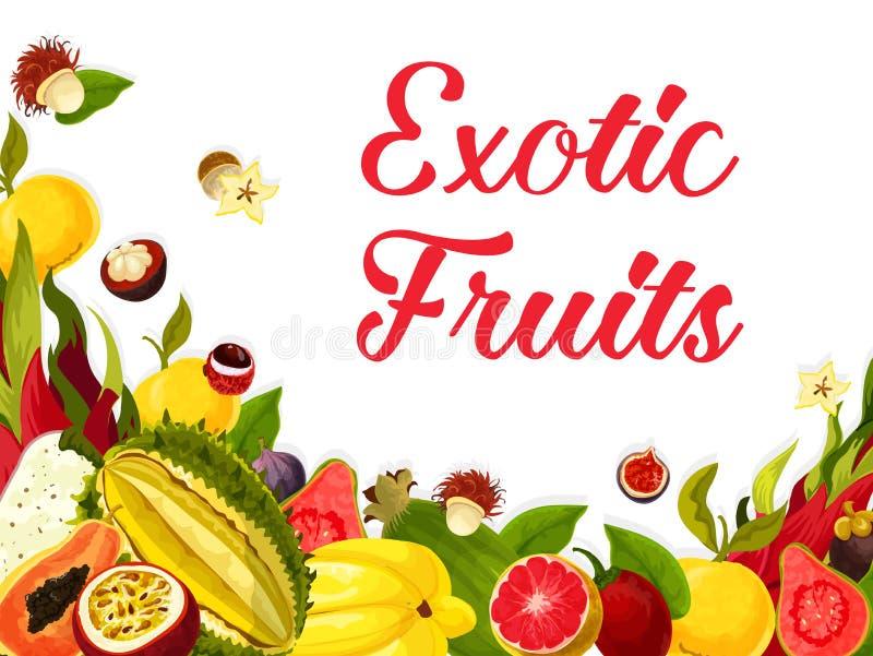 Download Vector Exotische Verse Tropische Vruchten Affiche Vector Illustratie - Illustratie bestaande uit rijp, ananas: 107707492