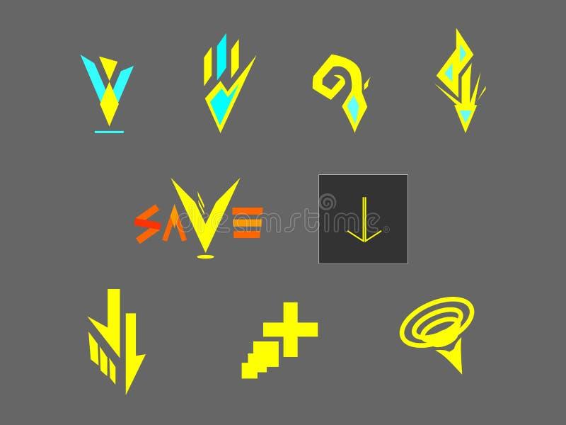 Vector extranjero de la transferencia directa del botón del logotipo del icono del estilo libre foto de archivo