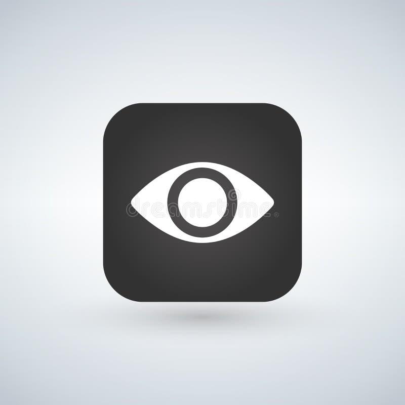 Vector eye app icon design, illustration isolated on white. vector illustration