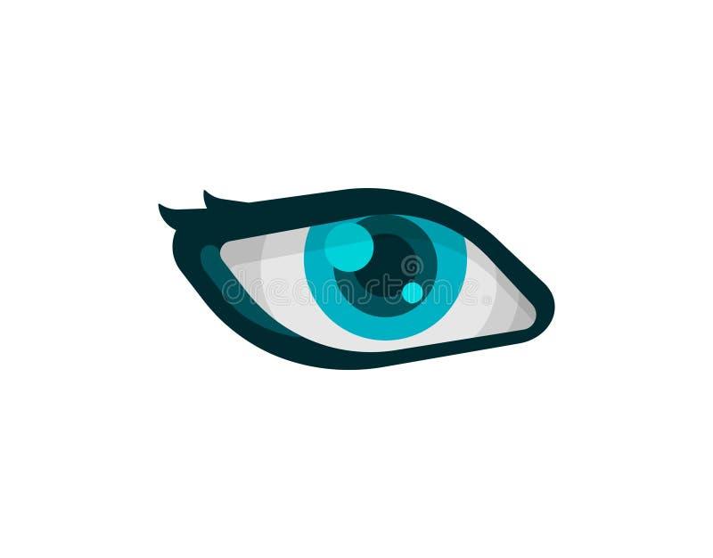 Vector Eye Icon isolated on white background stock illustration