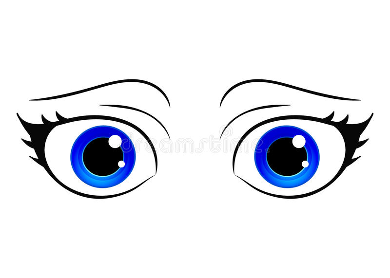 vector eyes cartoon style female eye colorful bright eyes anime rh dreamstime com vector eyeball vectoreye