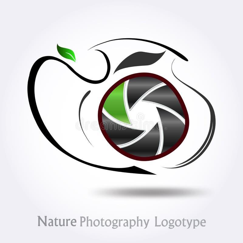 #vector för logo för naturfotografiföretag vektor illustrationer