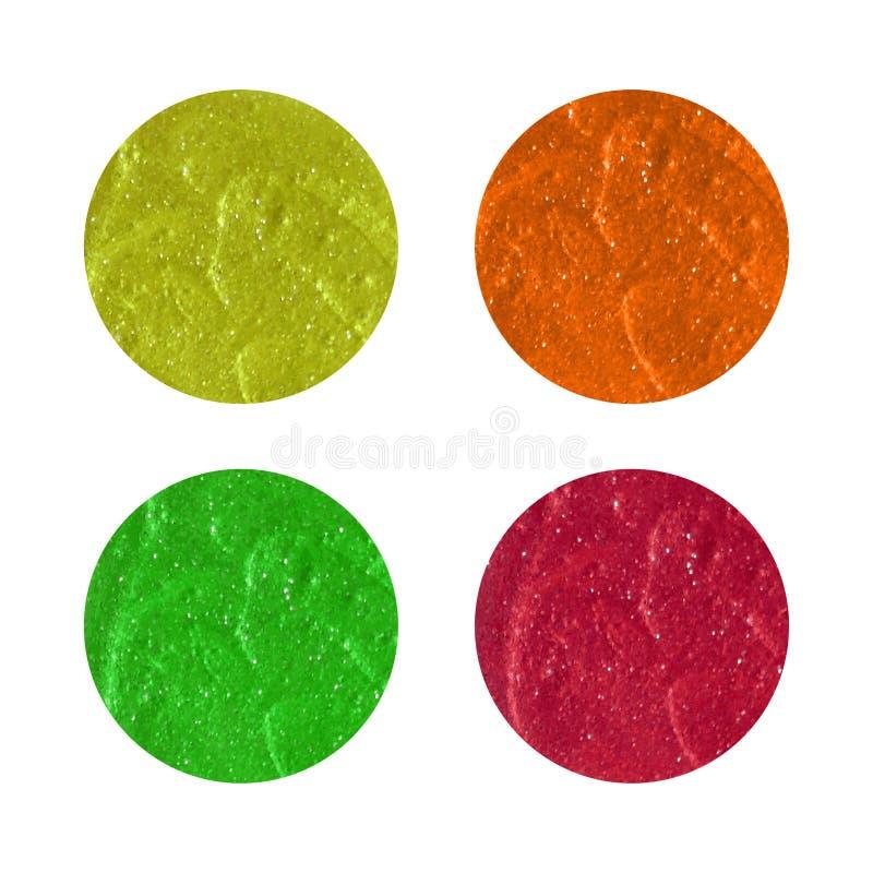Vector a faísca, sumário de brilho da pintura do curso da escova do círculo sobre fotografia de stock