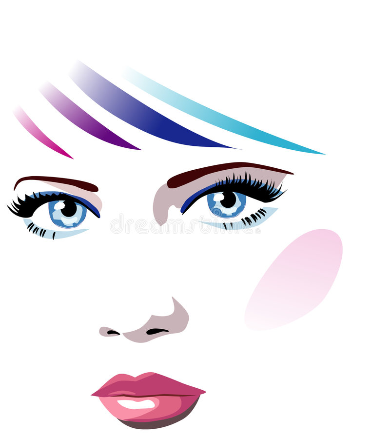 Vector face royalty free illustration