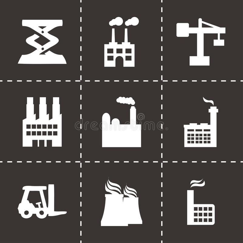 Vector factory icons set vector illustration