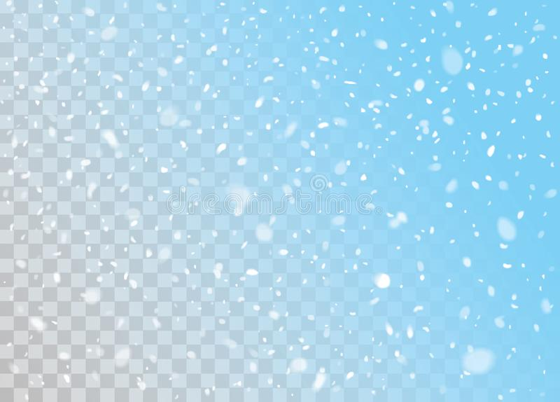 Vector falling snow. Falling snow background vector design element royalty free illustration