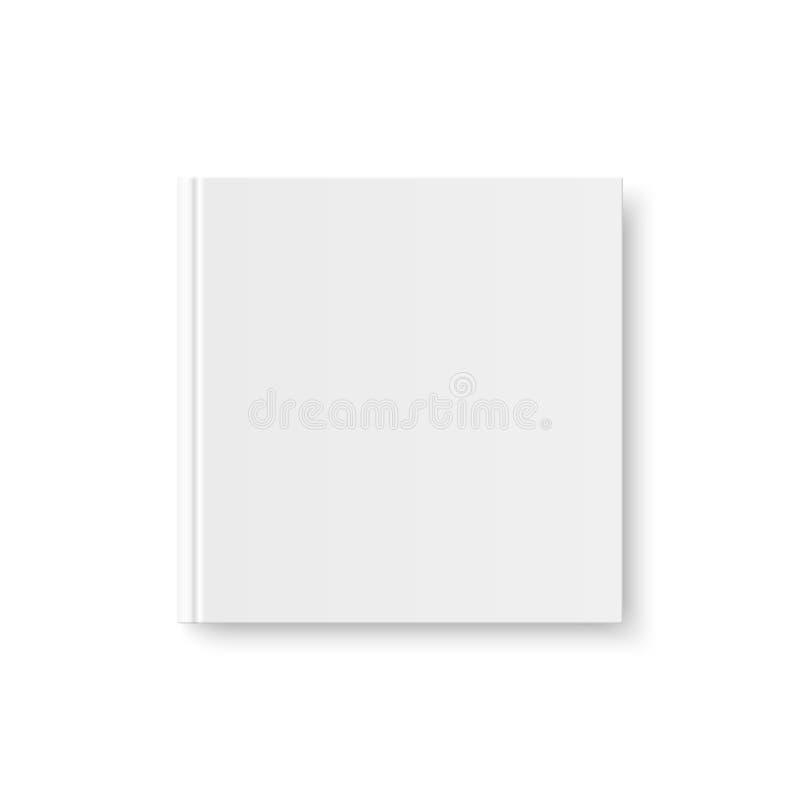Vector falso para arriba de la cubierta en blanco blanca del libro ilustración del vector