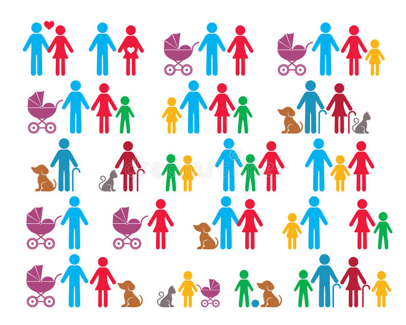 Vector family infographic icons vector illustration