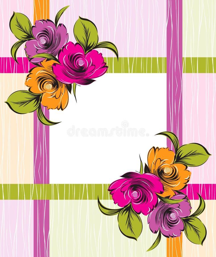 Vector fancy floral banner stock illustration