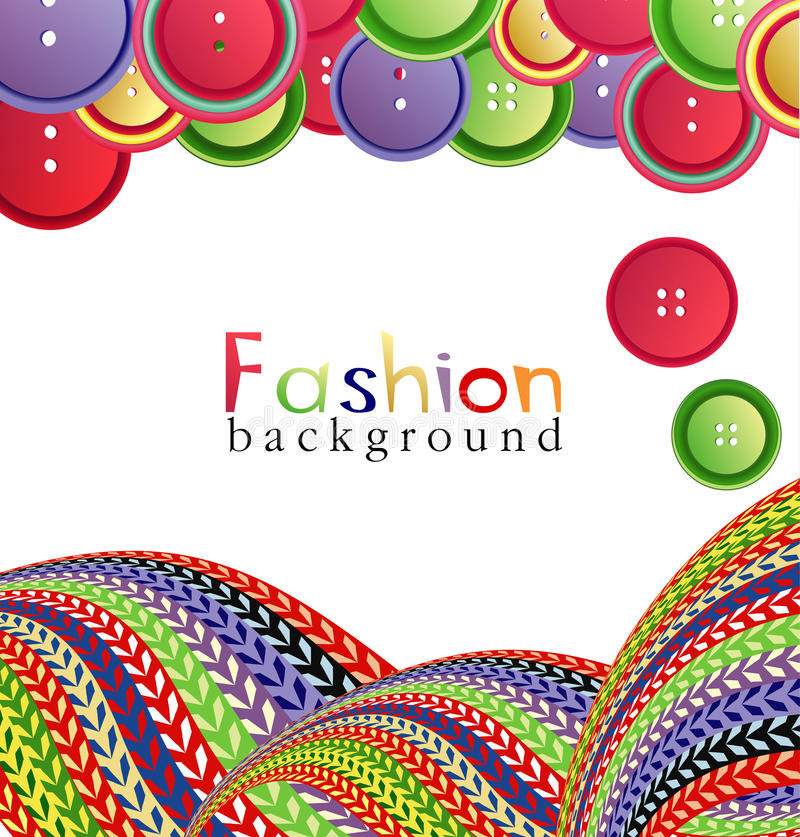 Vector fashion background with knitting royalty free illustration
