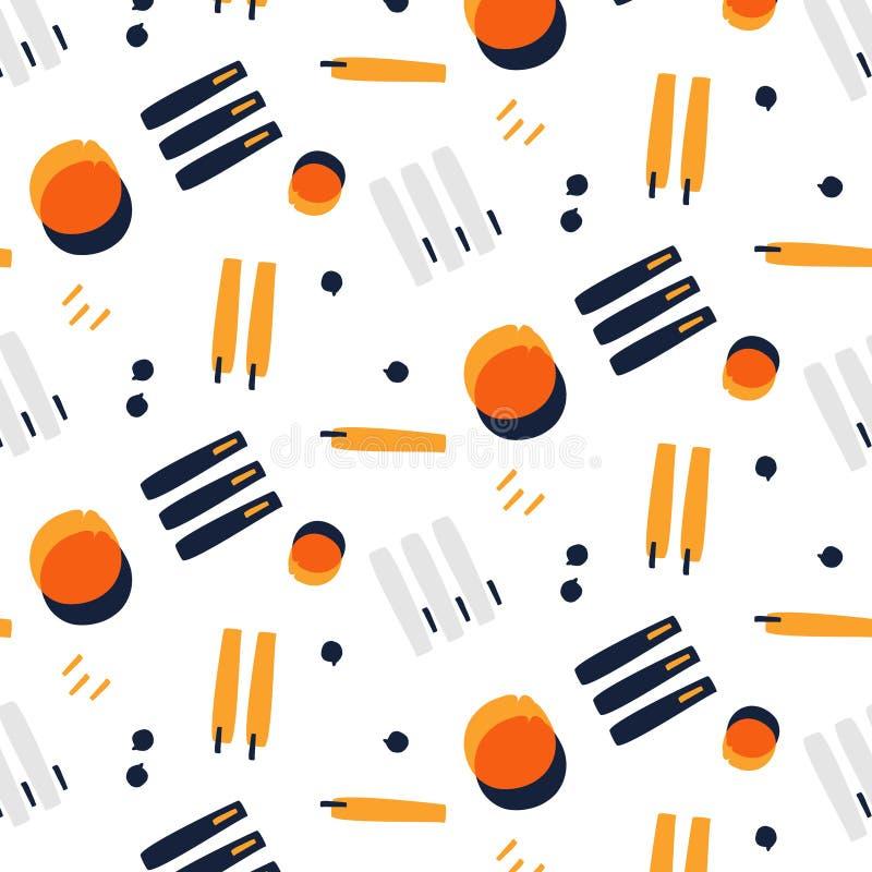 Vector fashion line pattern. Abstract modern decoration. Minimal vintage template, pop art style. Contrast random. Vector fashion line pattern. Abstract modern vector illustration