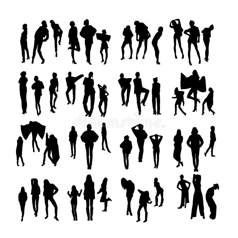 Vector Fashion Model Silhouettes. Part 2. Stock